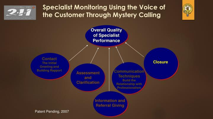 Specialist Monitoring Using the Voice of the Customer Through Mystery Calling