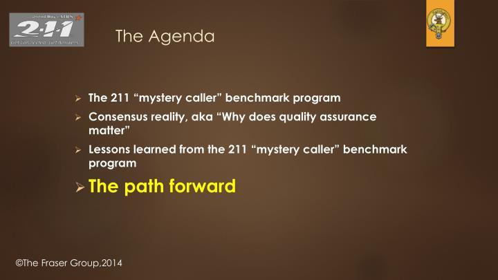 """The 211 """"mystery caller"""" benchmark program"""