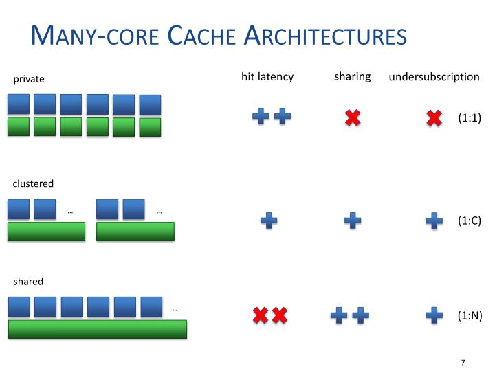 Many-core Cache Architectures