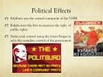 political effects