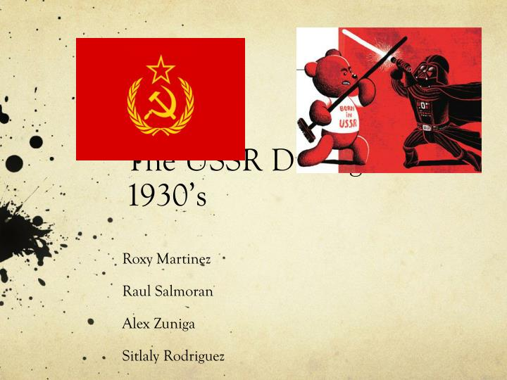 the ussr during the 1930 s n.