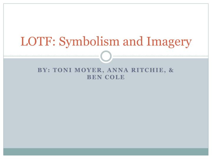 lotf symbolism and imagery n.