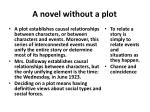 a novel without a plot