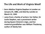 the life and work of virginia woolf