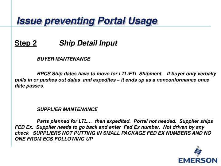Issue preventing Portal Usage