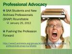 professional advocacy