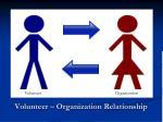 volunteer organization relationship