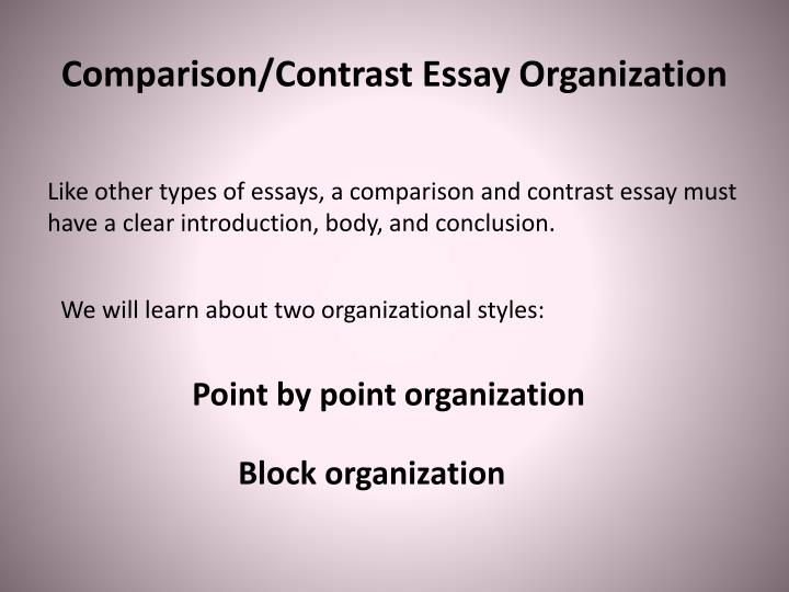 Ppt  Comparison And Contrast Essays Powerpoint Presentation  Id  Comparisoncontrast Essay Organization