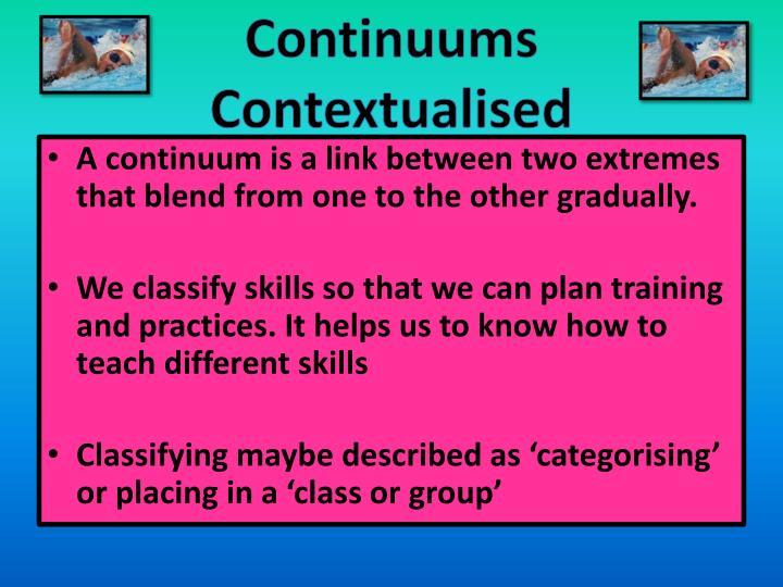Continuums
