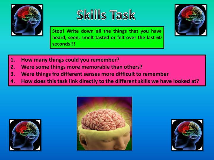 Skills Task