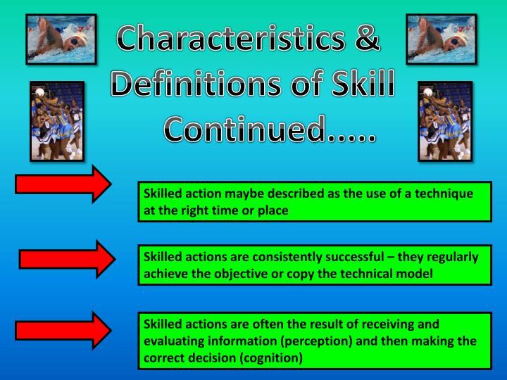 Characteristics &