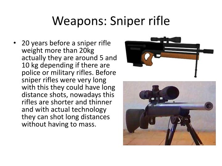 Weapons sniper rifle1