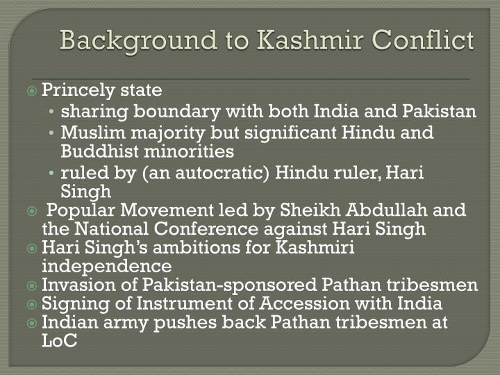 Background to Kashmir