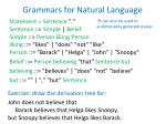 grammars for natural language