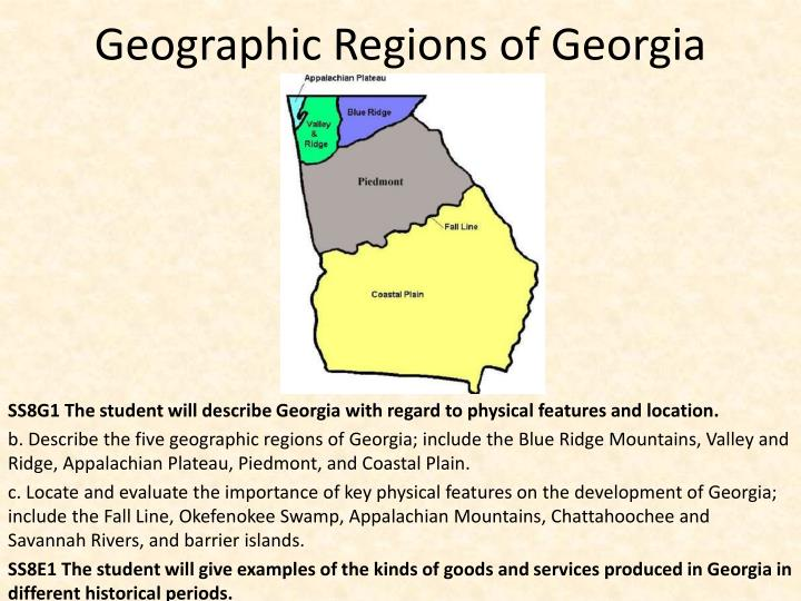 Ppt Geographic Regions Of Georgia Powerpoint Presentation Id 1970360