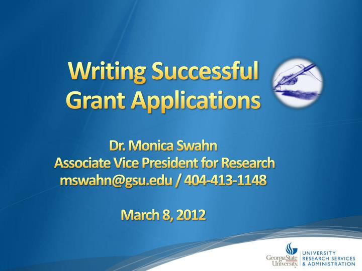 writing successful grant applications n.