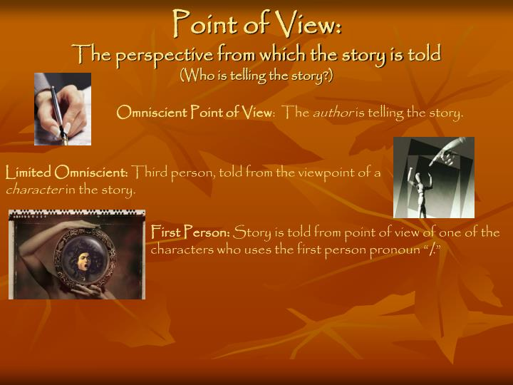 an omniscient point of view of military missions The omniscient point of view is explored in part three of a series on point of view in fiction tips for using an omniscient narrator in fiction however, do note that some would give omniscient its own category and list points of view as first, third, and omniscient.
