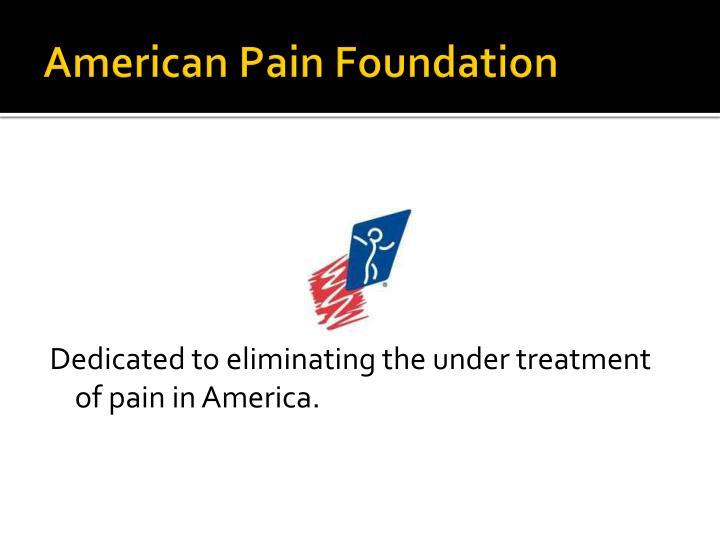 American Pain Foundation