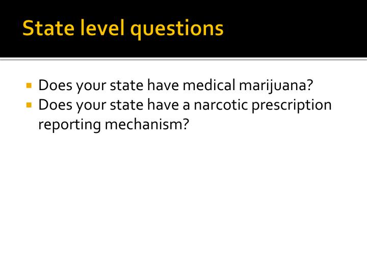 State level questions