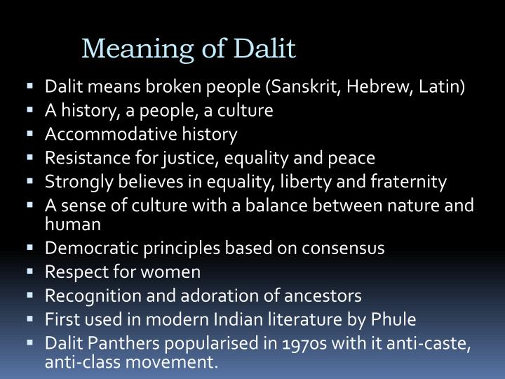 Meaning of dalit