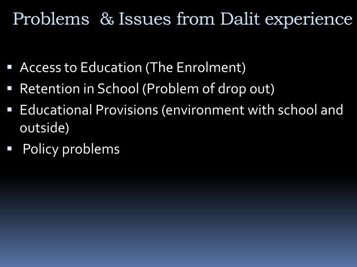 Problems  & Issues from