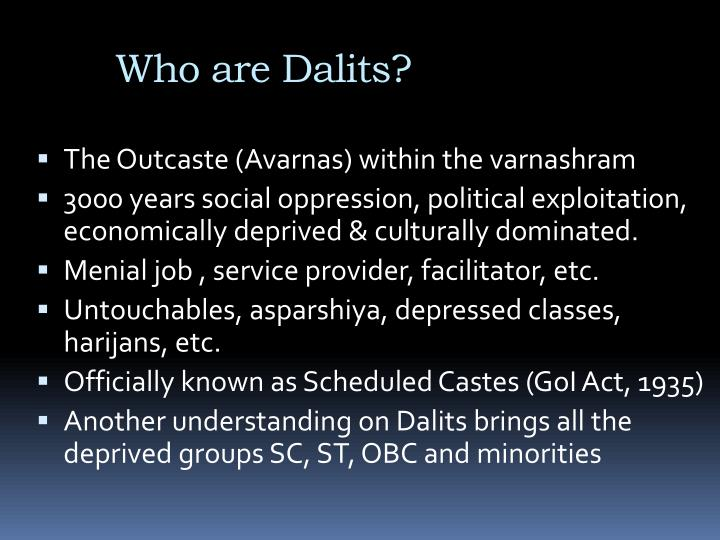Who are dalits