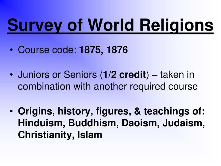 Survey of World Religions