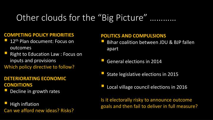 """Other clouds for the """"Big Picture"""" …………"""