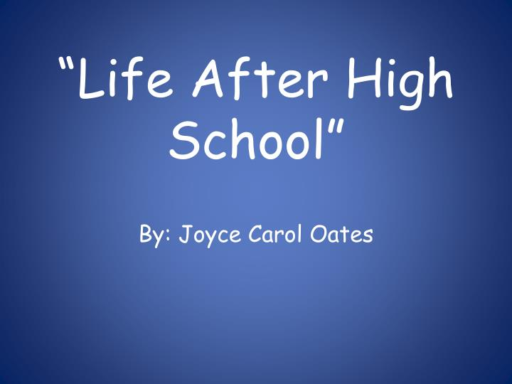 life after high school n.