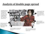 analysis of double page spread