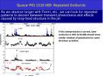 quasar pks 1510 089 repeated outbursts