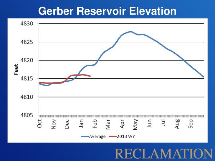 Gerber Reservoir Elevation