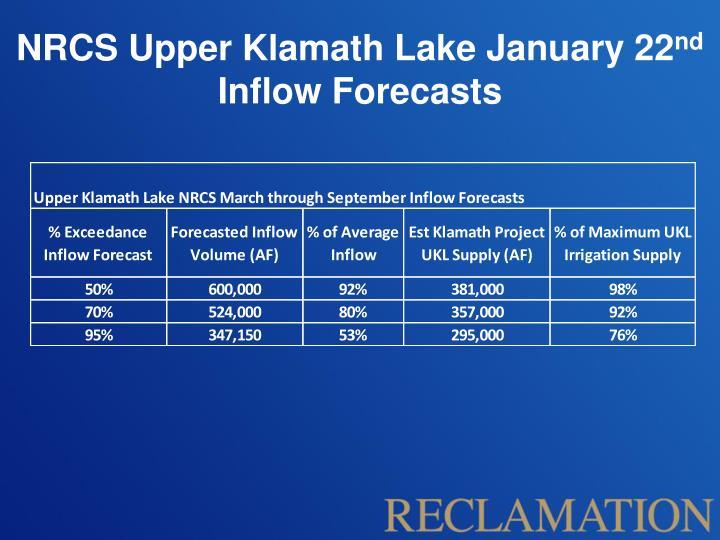 NRCS Upper Klamath Lake January 22