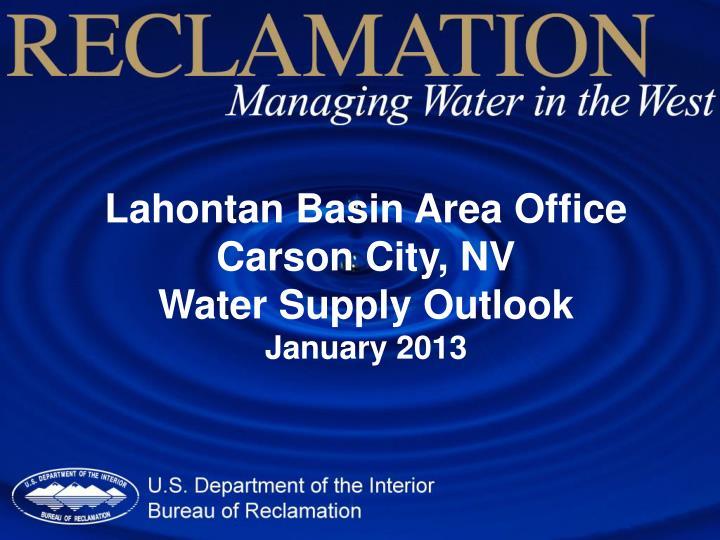 Lahontan Basin Area Office