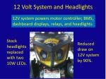 12 volt system and headlights