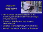 operator perspective