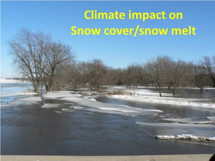 Climate impact on