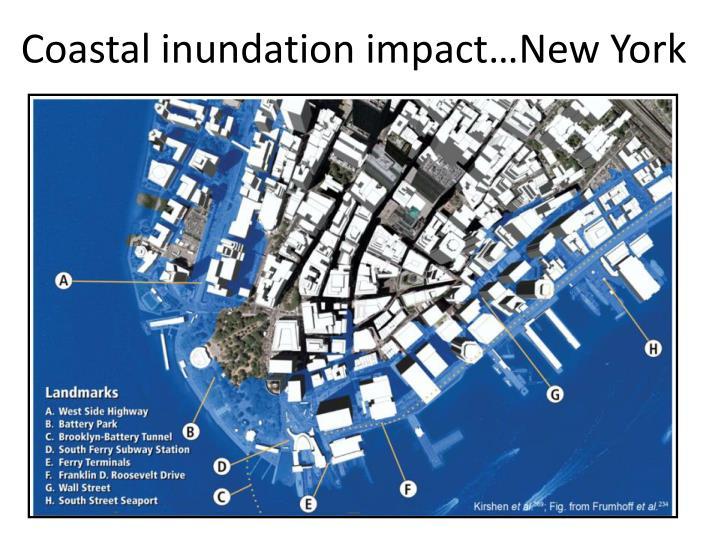 Coastal inundation impact…New York