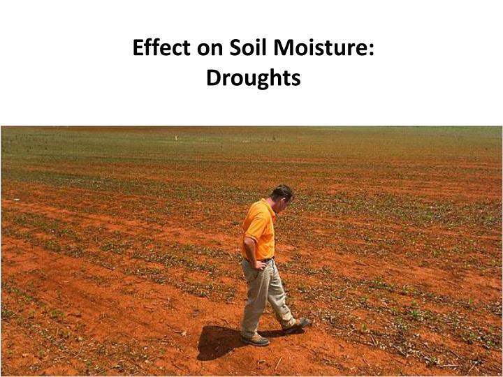 Effect on Soil Moisture: