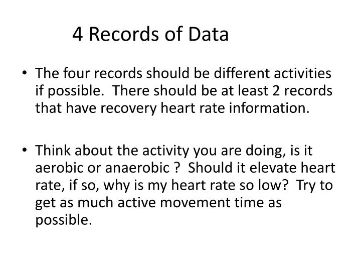 4 Records of Data