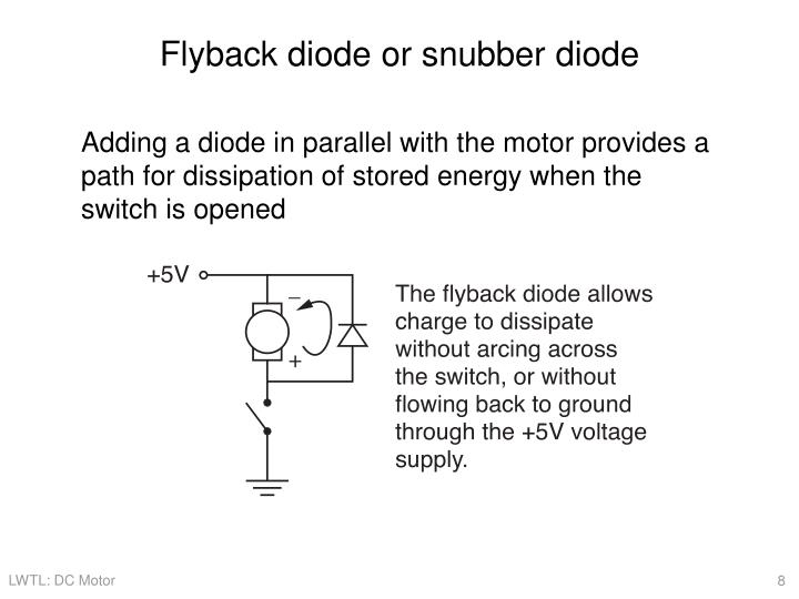 Flyback diode or snubber diode