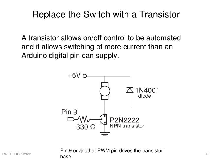 Replace the Switch with a Transistor