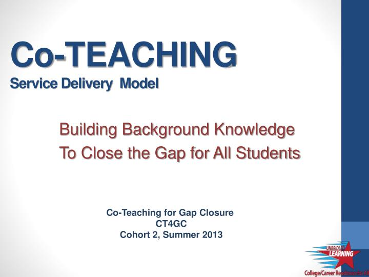 co teaching service delivery model n.