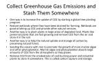 collect greenhouse gas emissions and stash them somewhere