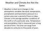 weather and climate are not the same