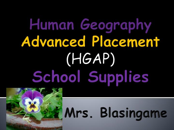 Human geography advanced placement hgap school supplies