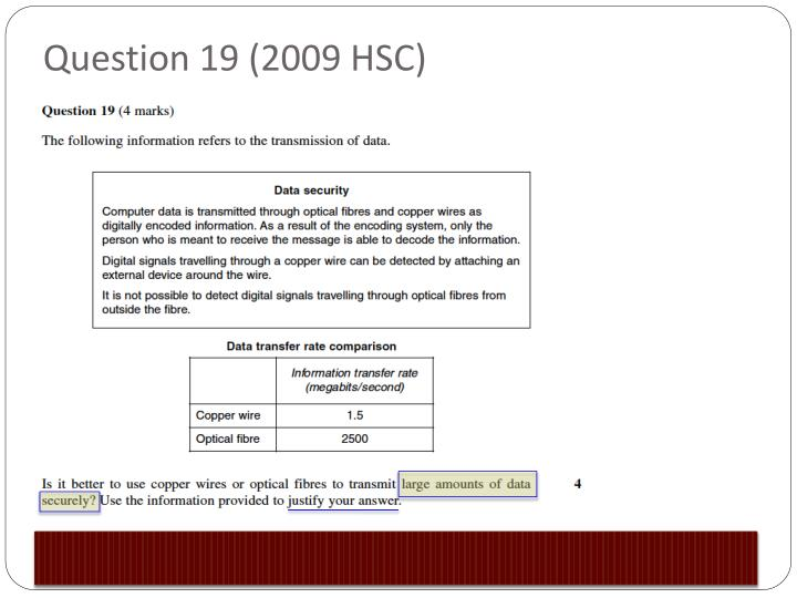 2009 hsc questions 1 Click here to visit our frequently asked questions about html5 video  try to  find some quotes that may assist your understanding of the concept: hsc online .