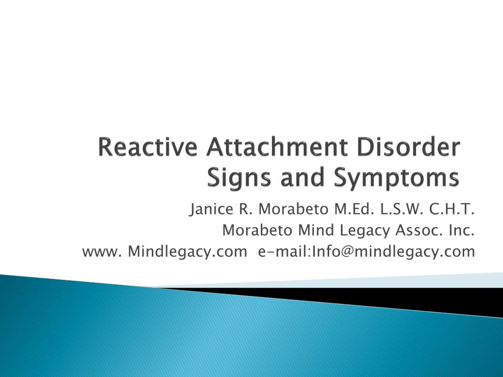 Doctoral thesis reaction detachment disorder