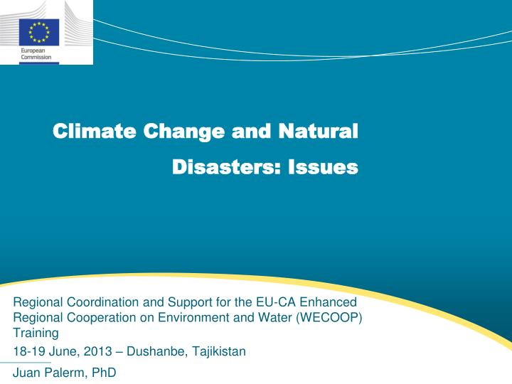 climate change and natural disasters issues n.