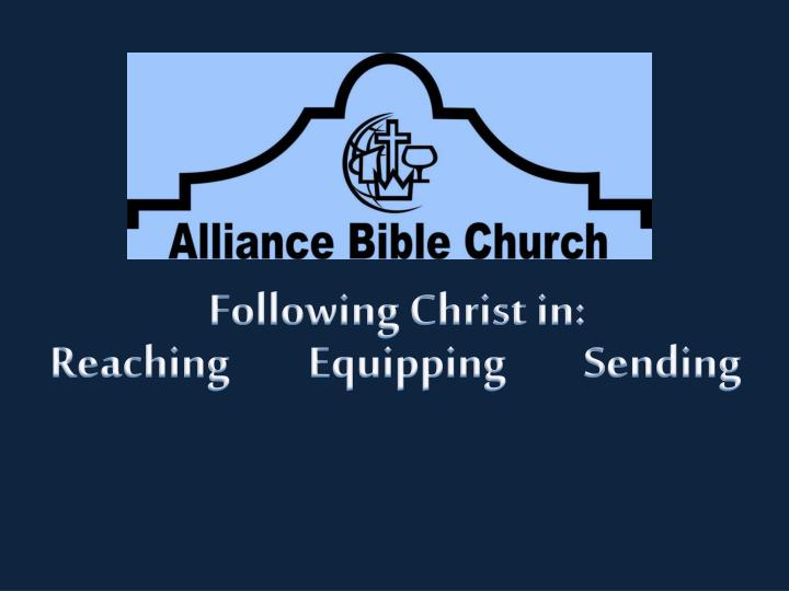 Following Christ in: